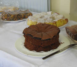 A selecton of home made cakes on a table